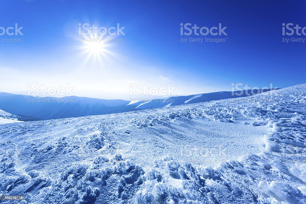 Polar sunshine royalty-free stock photo
