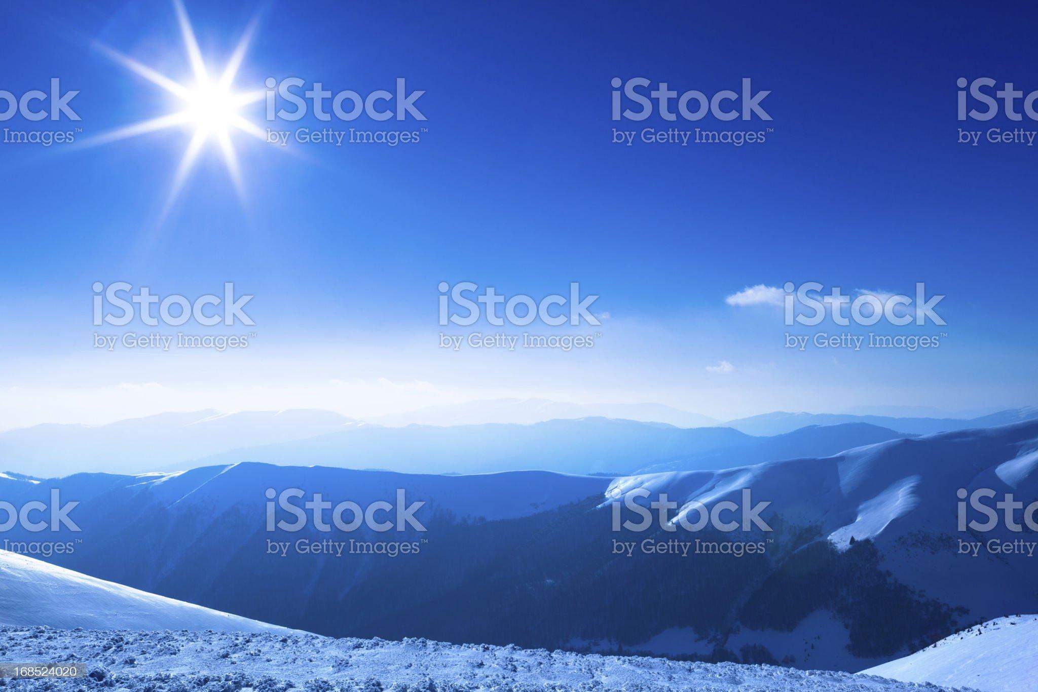 Polar sunshine royalty-free stock photo