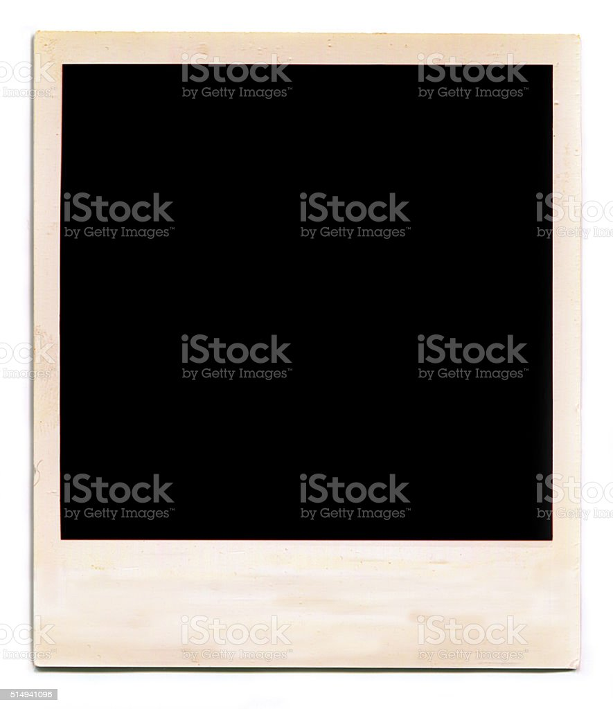 Polaroid Blank Photo stock photo