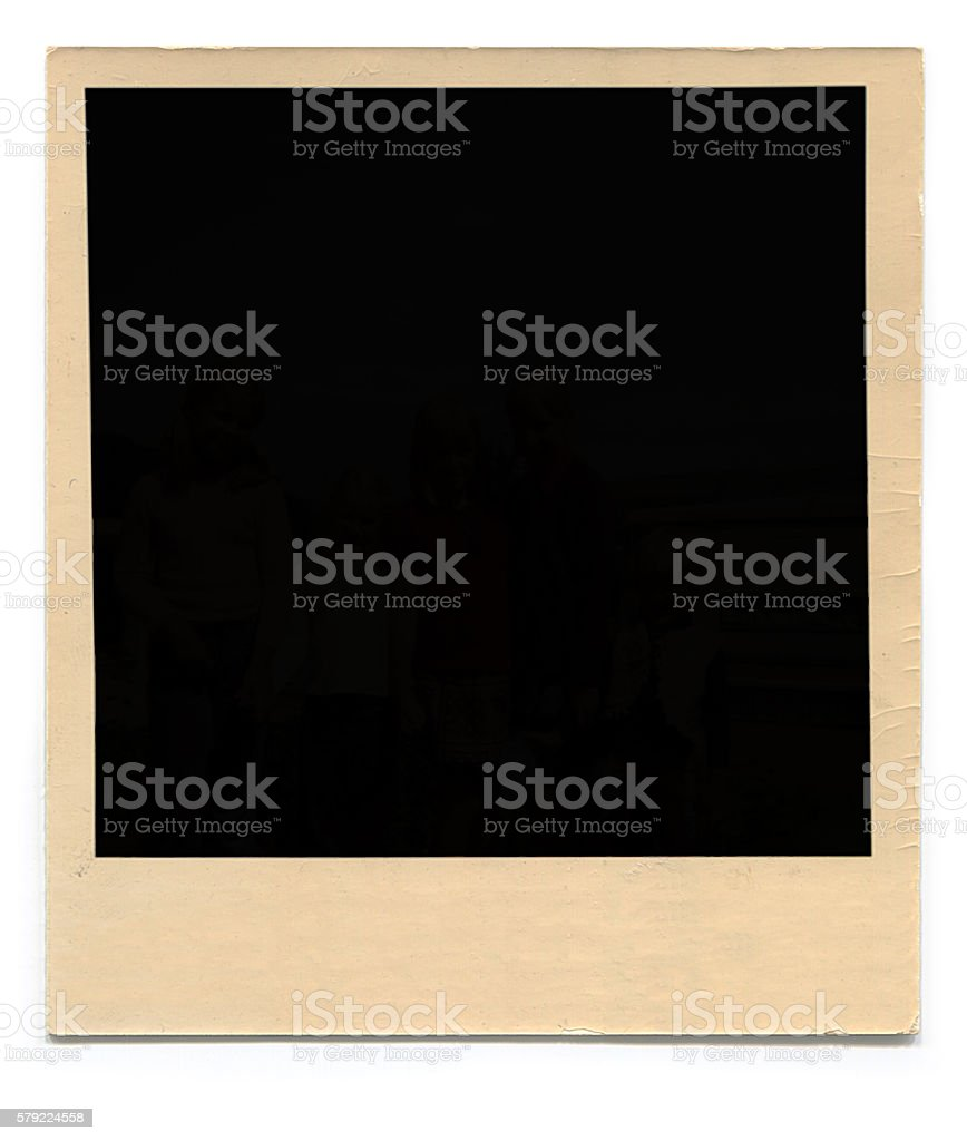 Polaroid vuoto Foto foto stock royalty-free