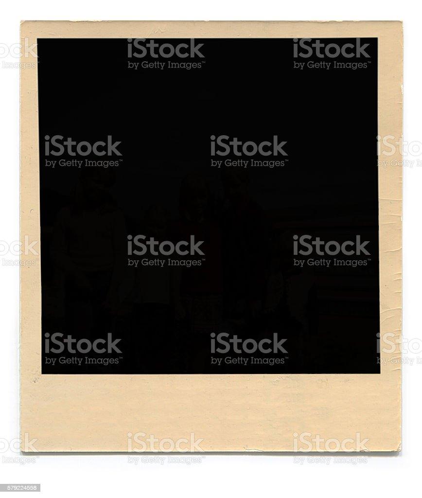 Polaroid Blank Photo stock photo