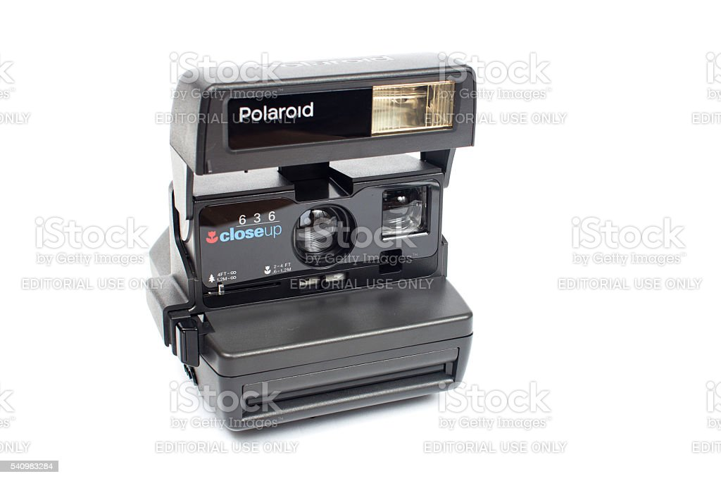 Polaroid close up 636 camera stock photo
