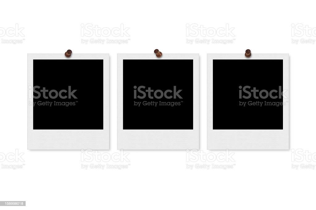 Polaroid Frames & Thumbtacks royalty-free stock photo