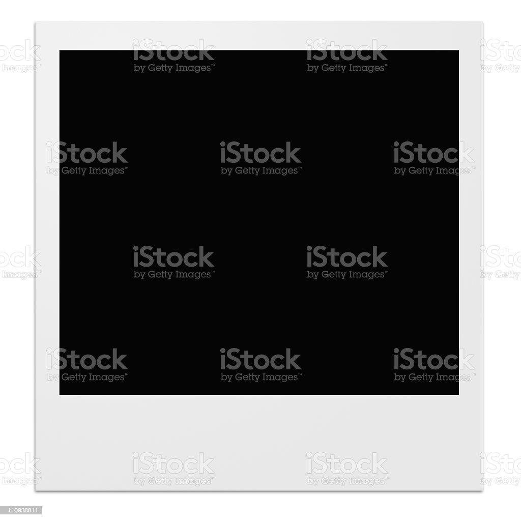 Polaroid photo frame royalty-free stock photo