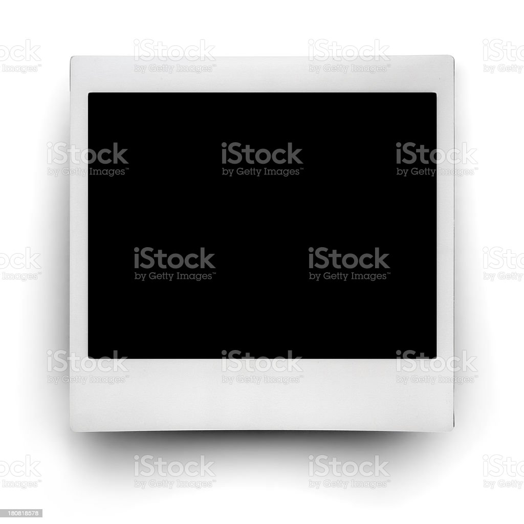 Polaroid Photo Frame with Clipping Paths stock photo