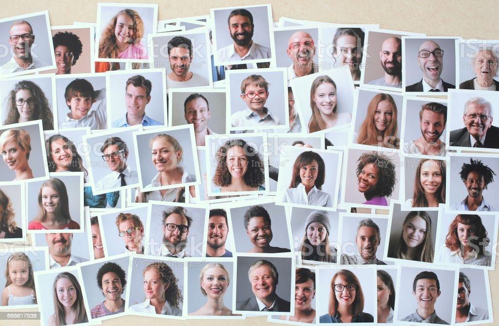 Polaroid pictures stock photo