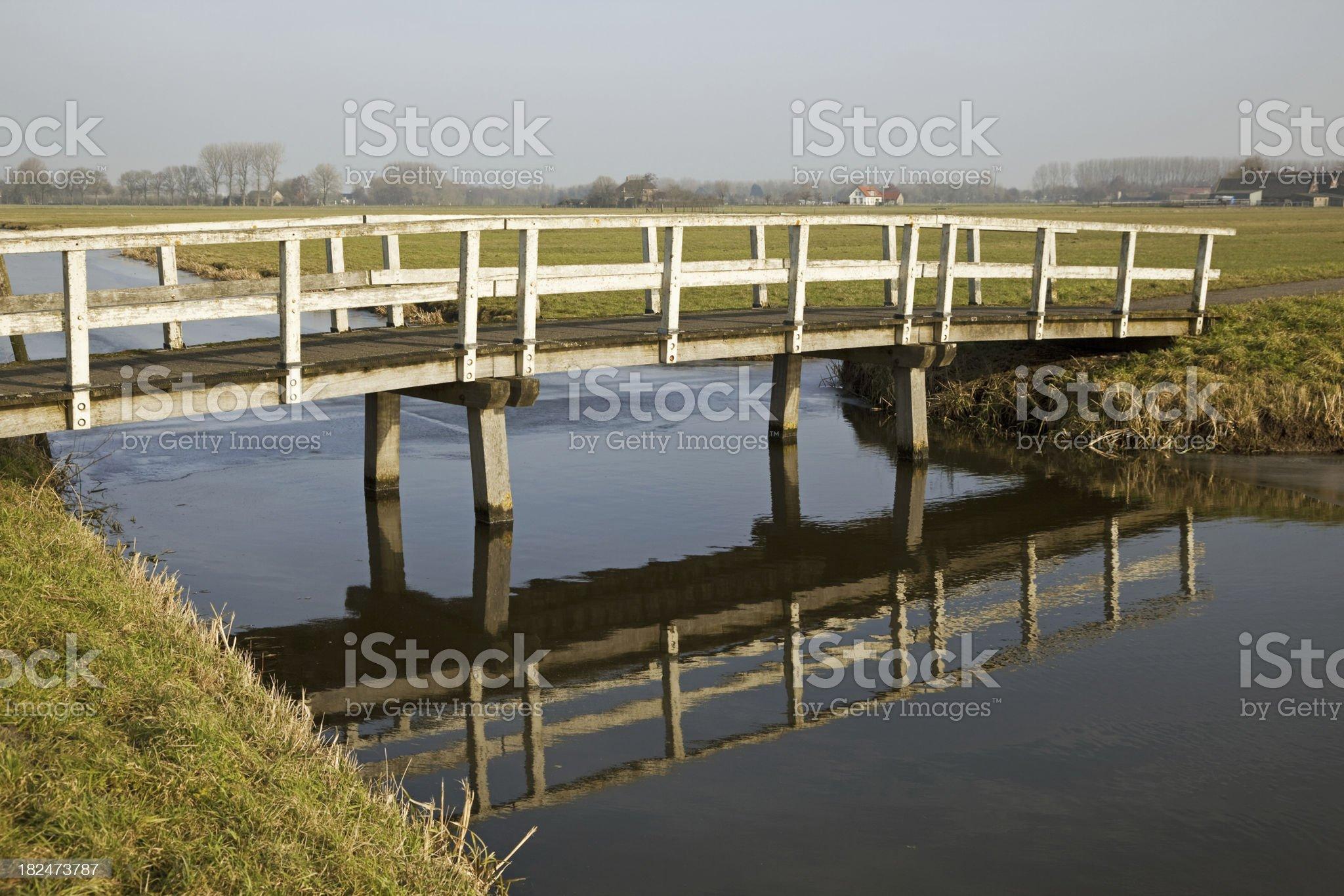 Polder  landscape royalty-free stock photo