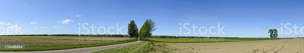 Polder Panorama stock photo