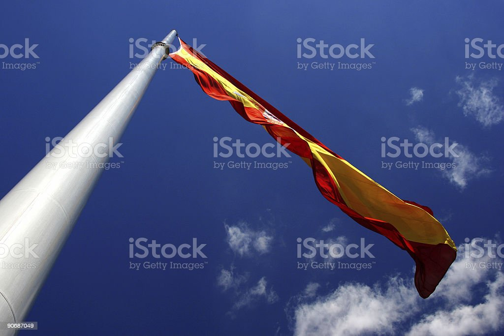 Pole and flag royalty-free stock photo