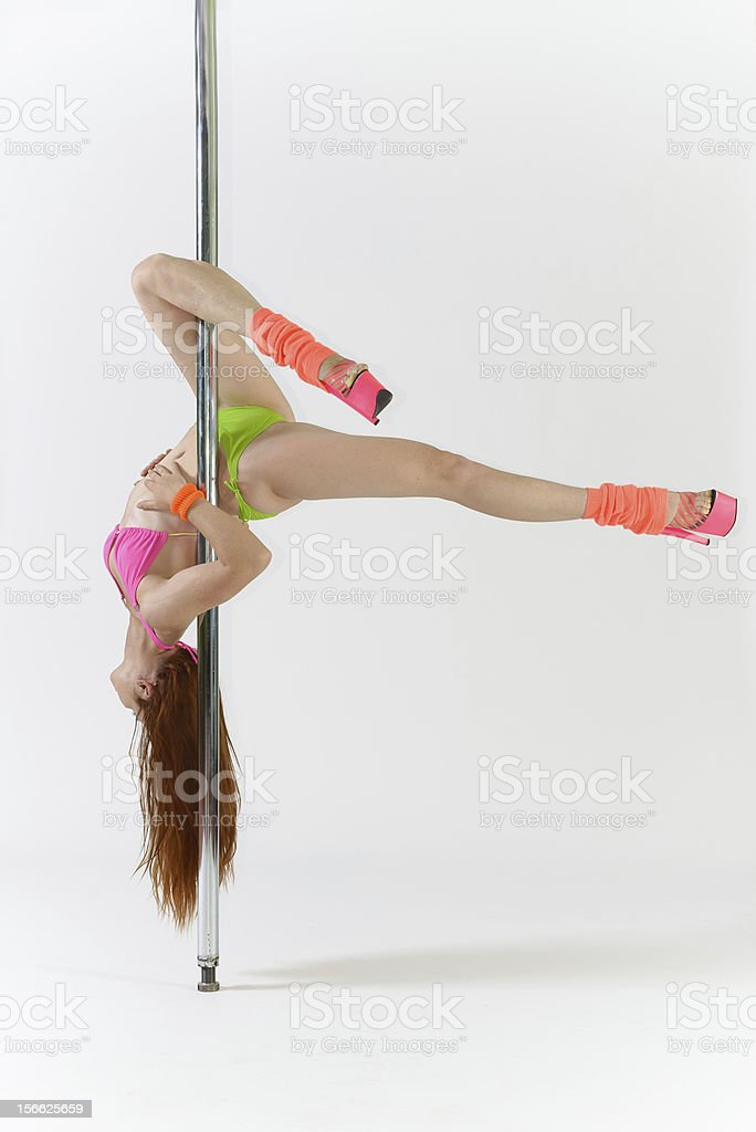 Pole dance royalty-free stock photo