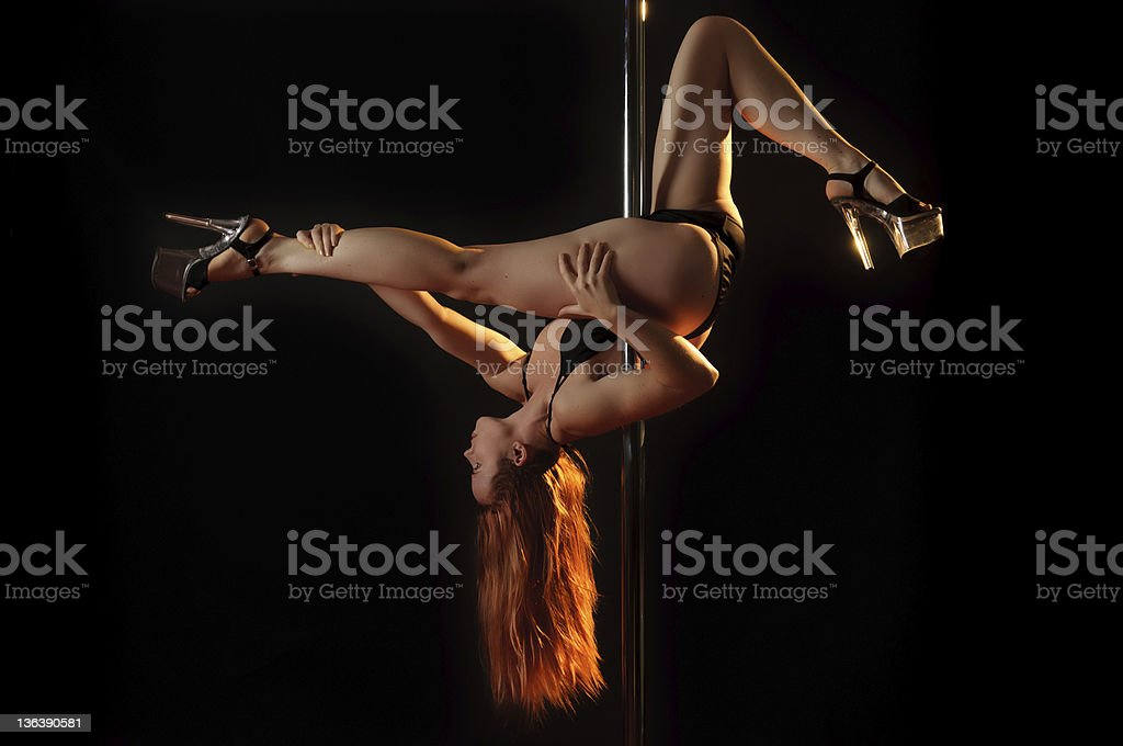 Pole dancer stock photo