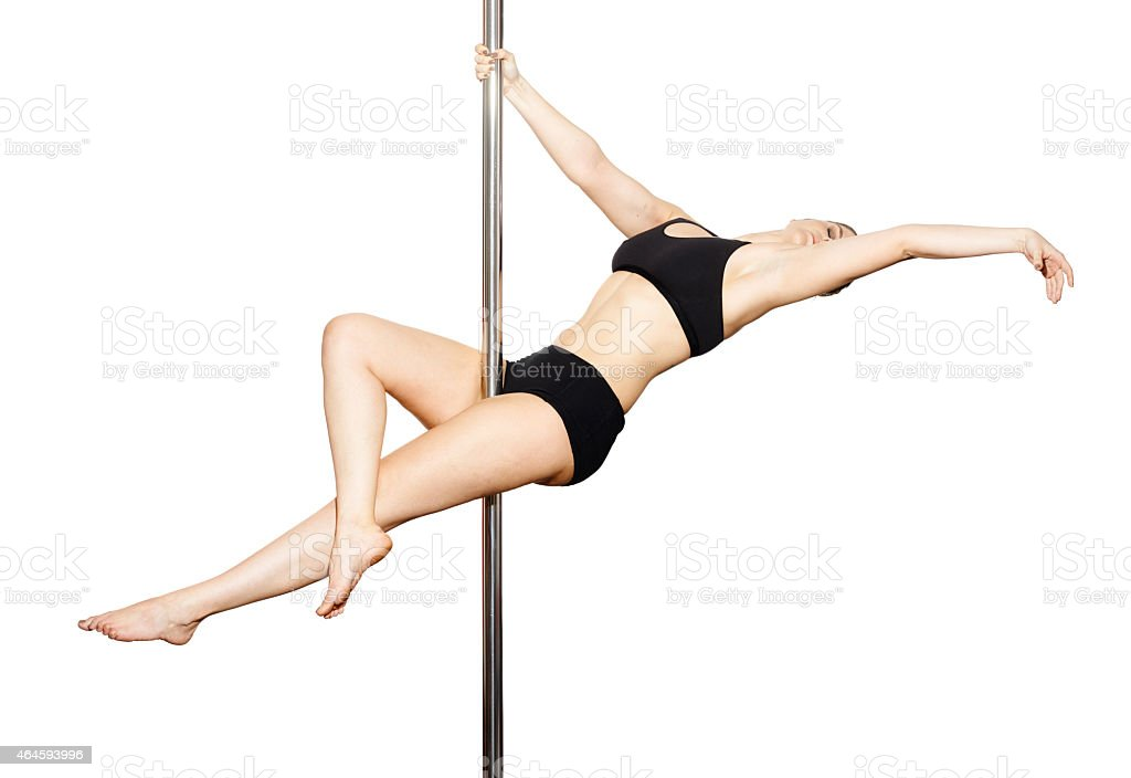 Pole dancer woman stock photo
