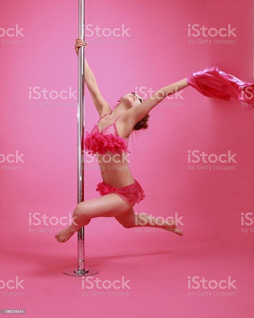 pole dancing stock photo