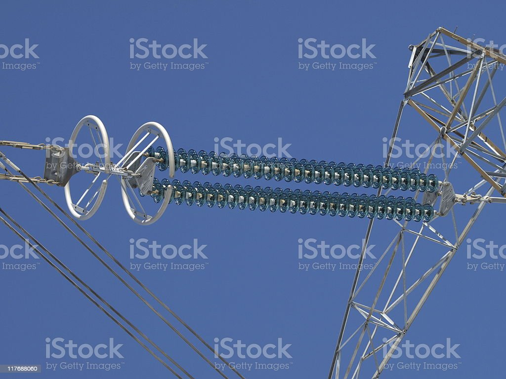 Pole electric isolator stock photo