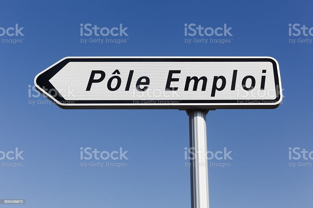 Pole emploi panel in France stock photo