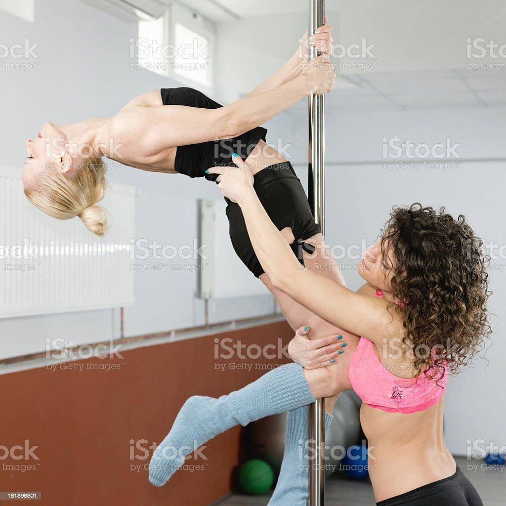 Pole fitness royalty-free stock photo