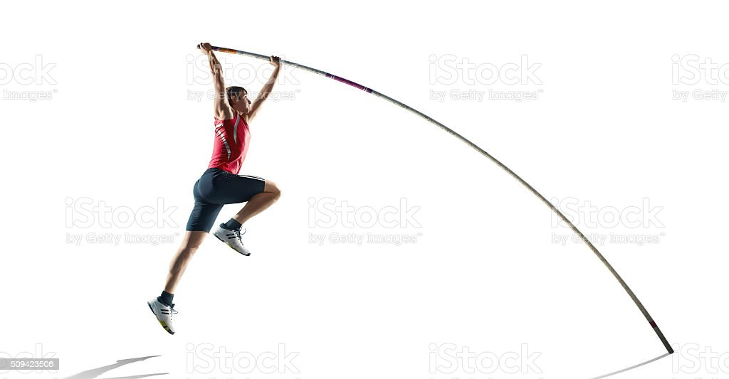 Pole jumper stock photo