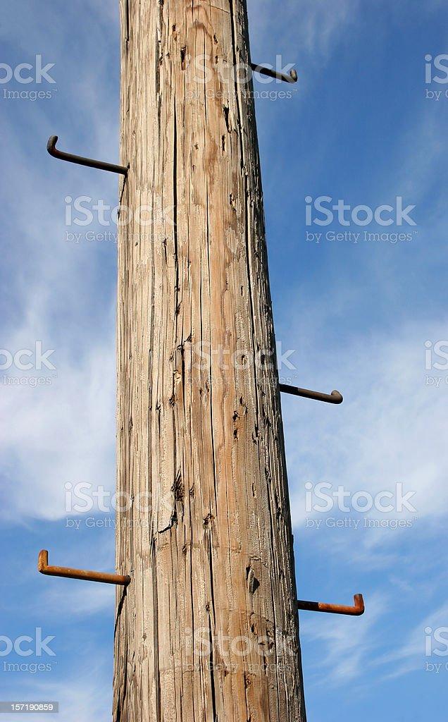 Pole to Sky stock photo