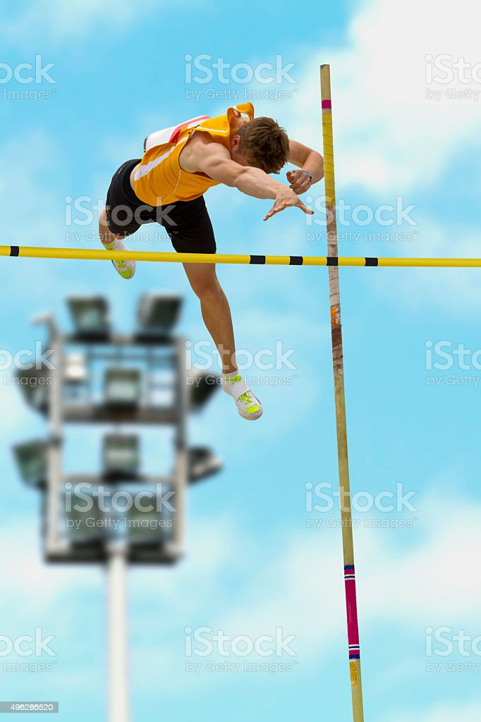 Pole vault 1 stock photo