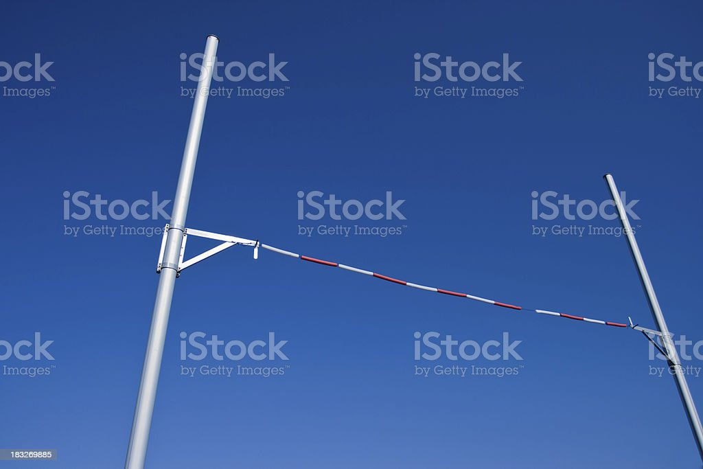 Pole Vault against Blue Sky stock photo