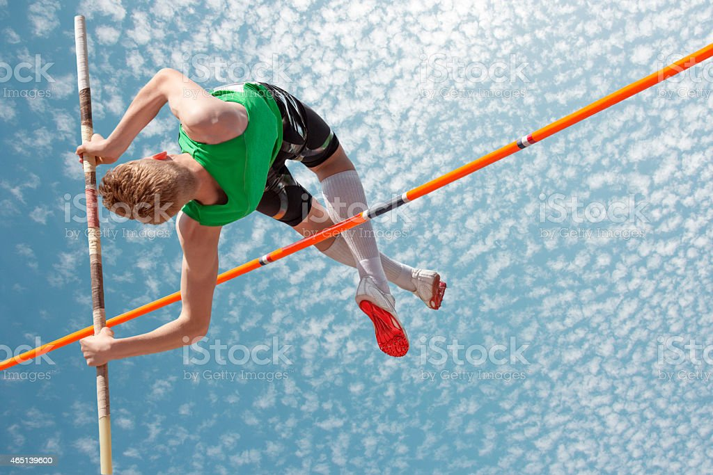 Pole vault sky stock photo