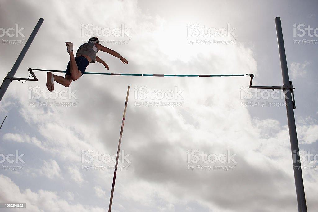 Pole vaulter royalty-free stock photo