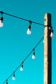 Pole with a lamps