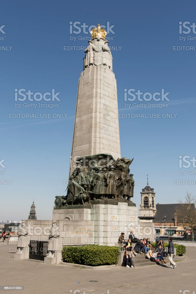 Poleaert Square in Brussels stock photo