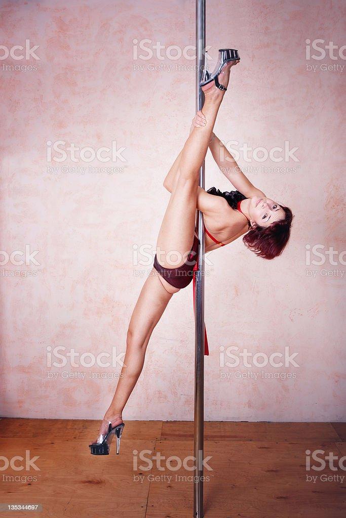 Poledance royalty-free stock photo