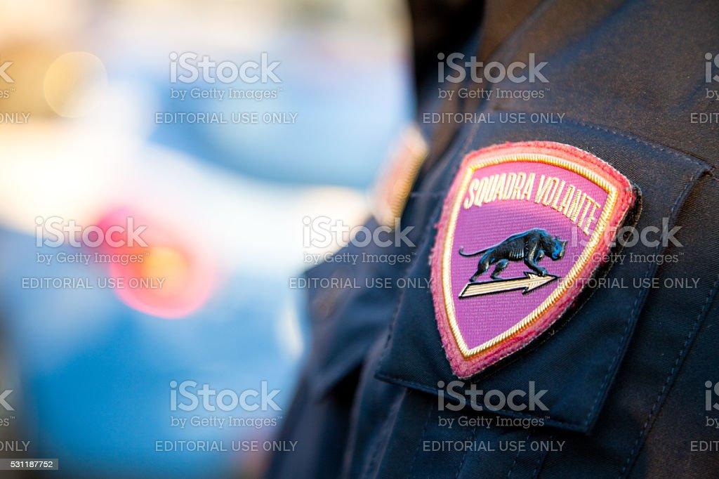 Police activity stock photo