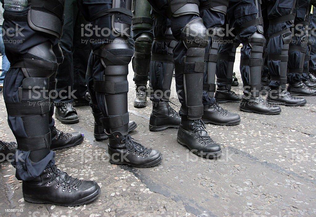 Police armour stock photo