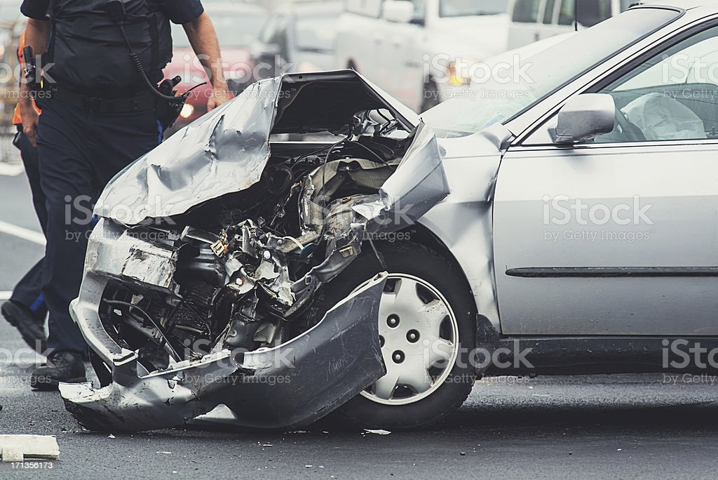 Police at Accident Scene royalty-free stock photo