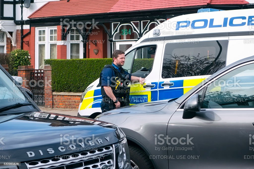 Police at an incident stock photo