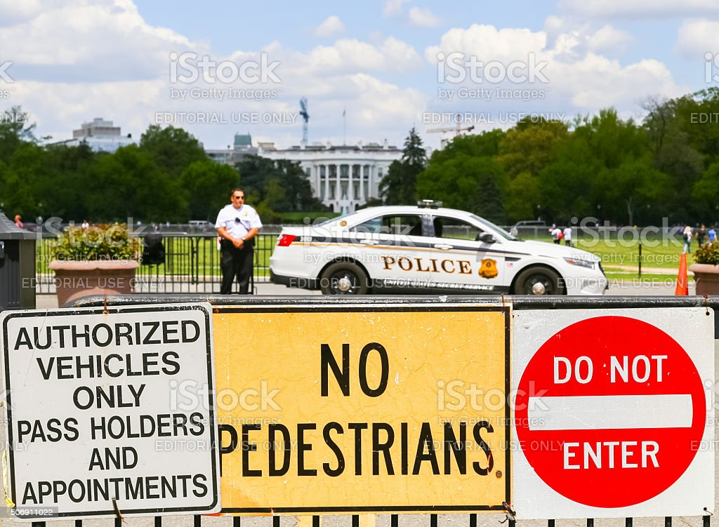 Police at the Ellipse stock photo