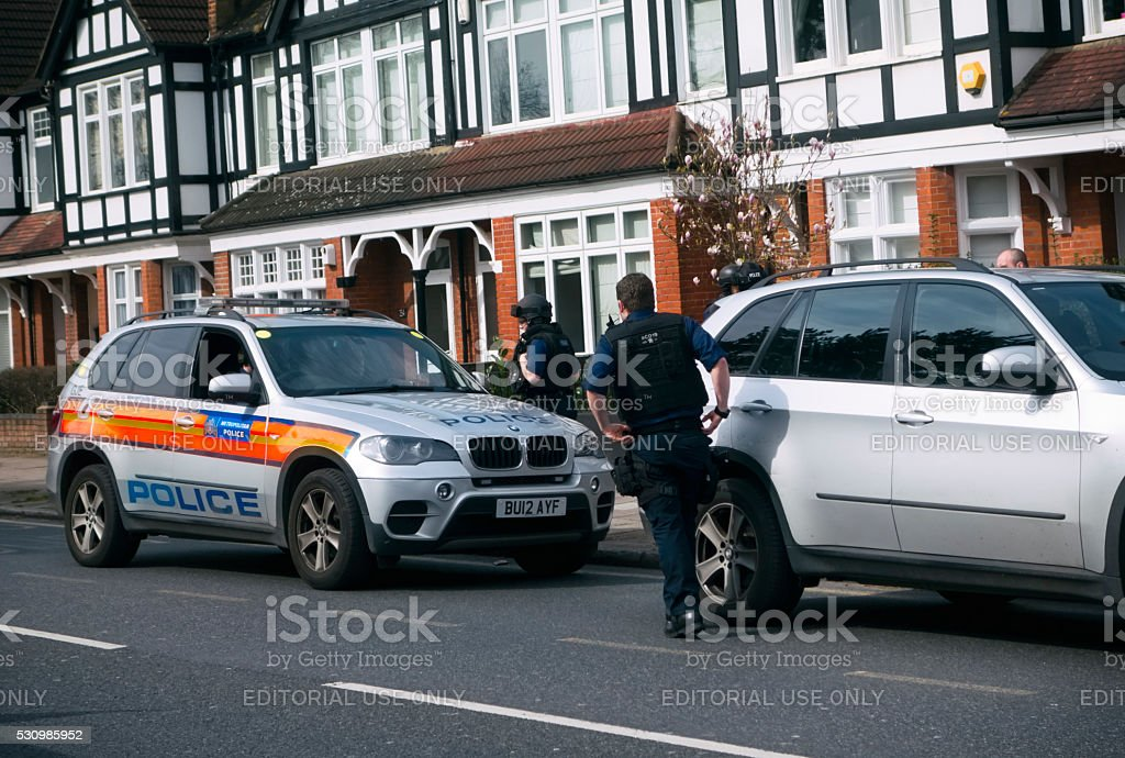 Police attending an incident stock photo