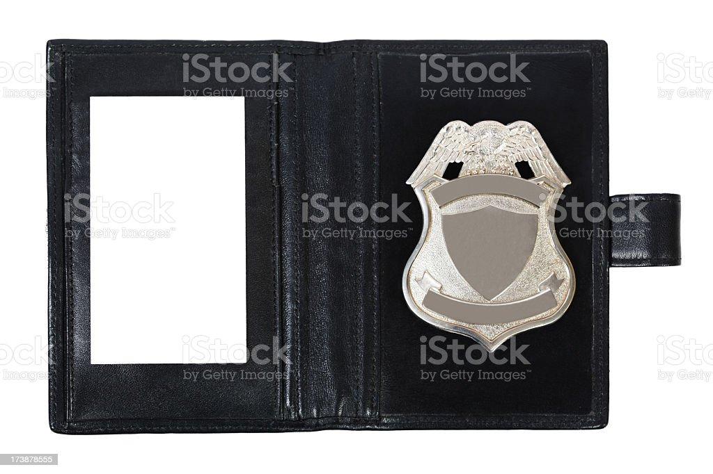 Police badge stock photo