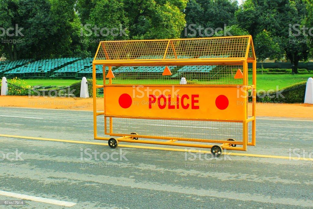Police Barricade stock photo