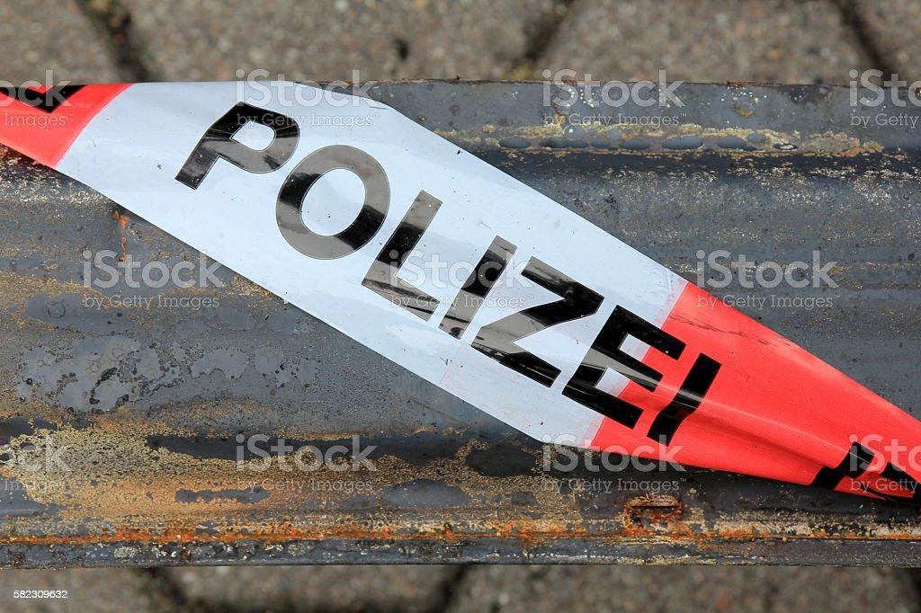 Police Barricade Tape stock photo