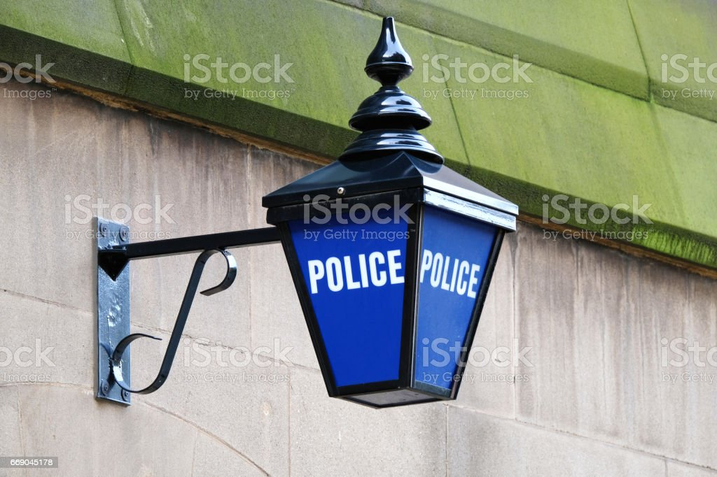 Police Blue Lamp stock photo