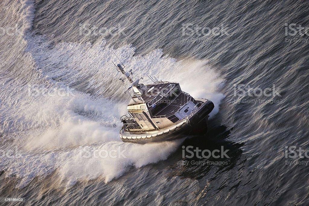 Police Boat on Patrol royalty-free stock photo