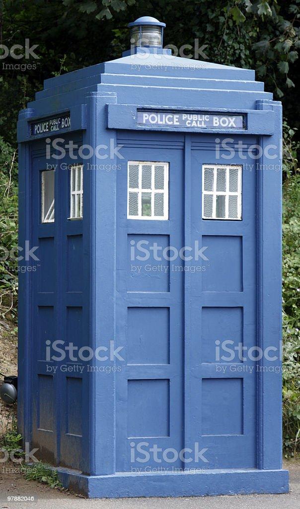 police box stock photo