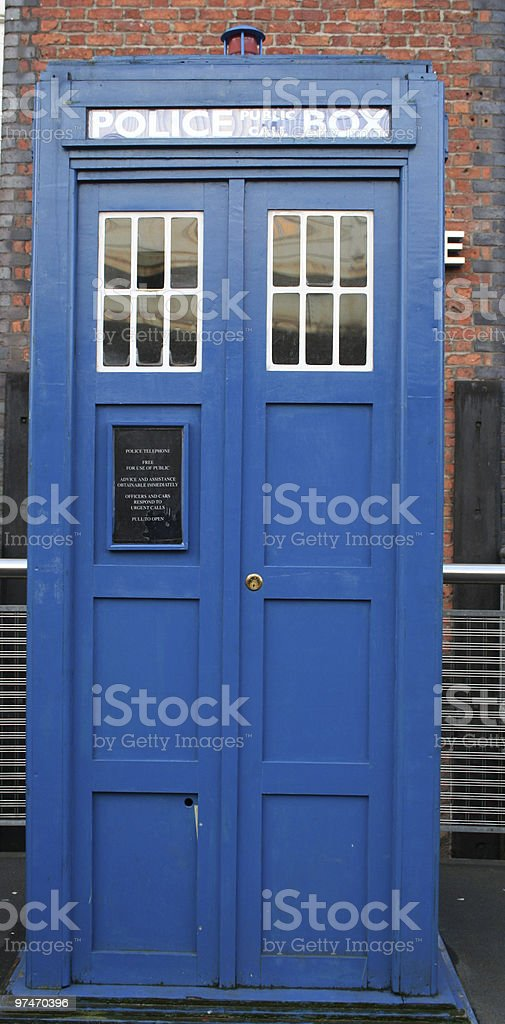 Police call Box or TARDIS. stock photo