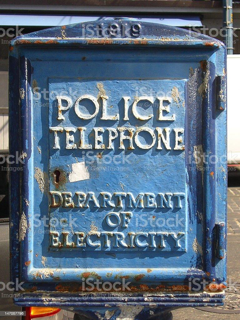 Police call box San Fransisco stock photo