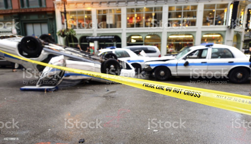 Police Car Auto Accident, Chicago royalty-free stock photo