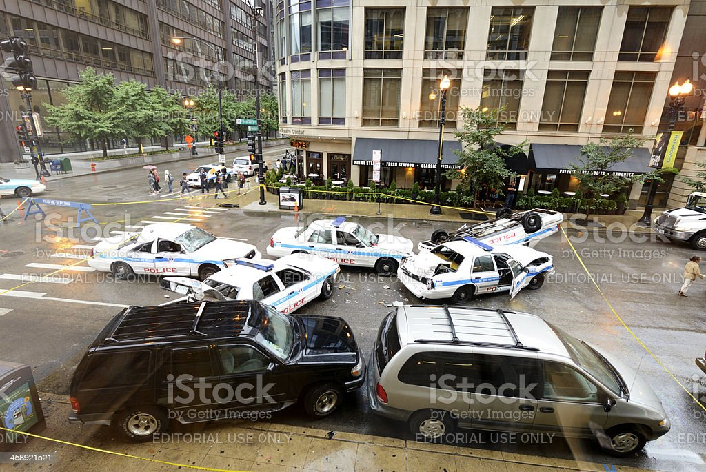 Police Car Auto Accident royalty-free stock photo