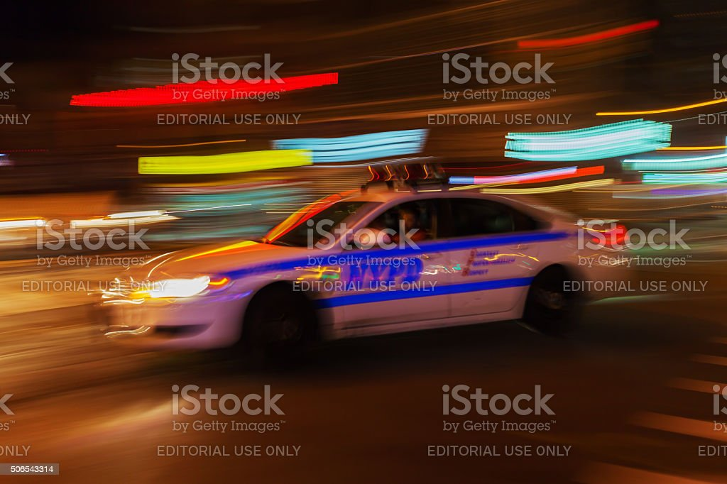 police car in NYC stock photo