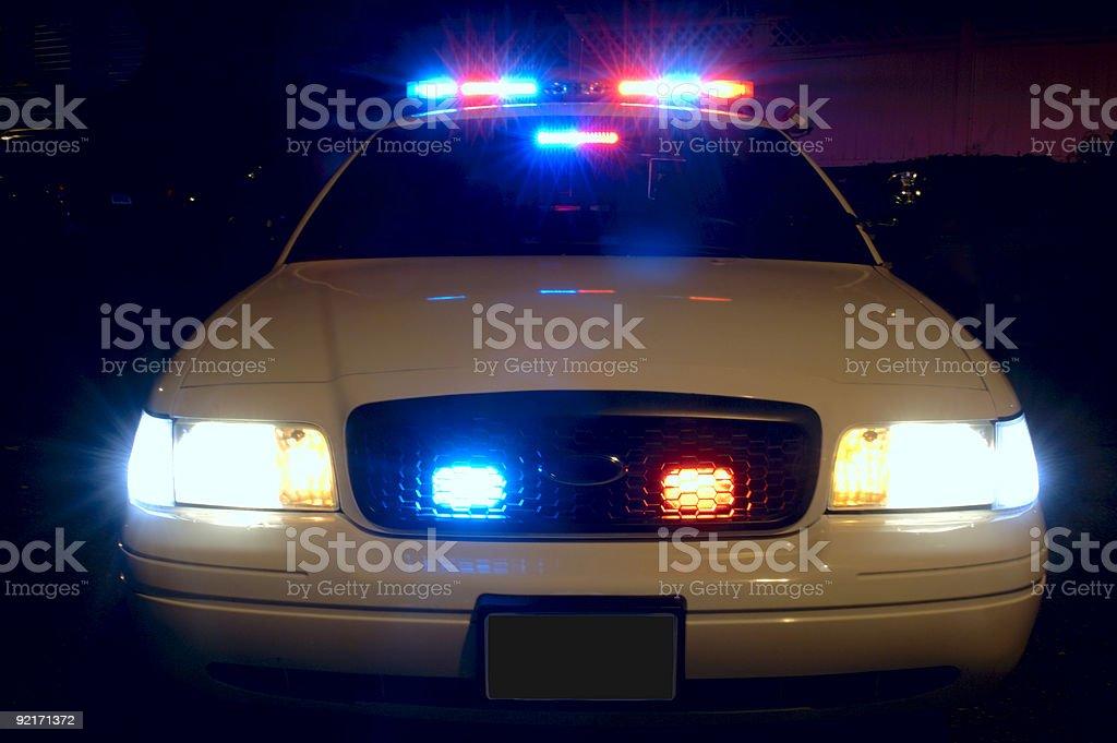 Police Car Lights royalty-free stock photo