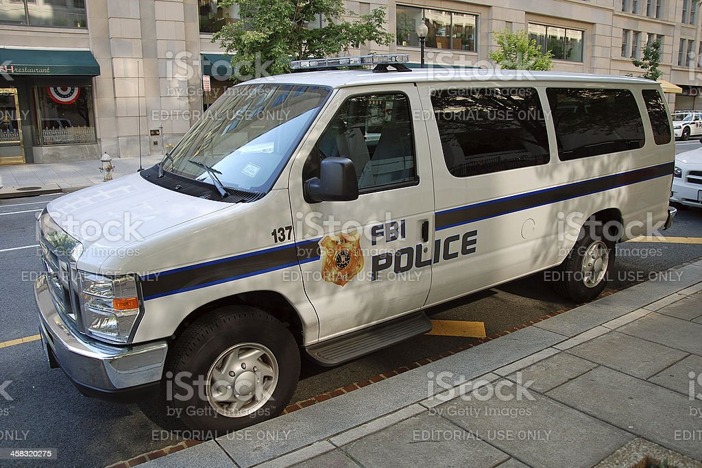 FBI police car stock photo