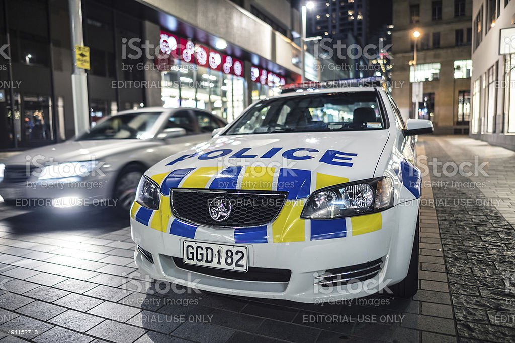 NZ Police car stock photo