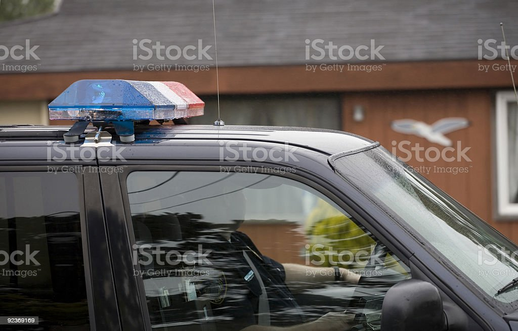 Police Car with Officer royalty-free stock photo
